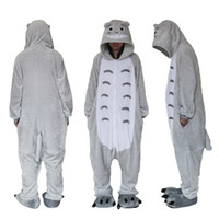 Polar Fleece Totoro Unisex Onesie Cosplay Costume Hoodies Py...