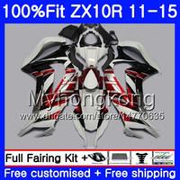 Kawasaki ZX-10R ZX 10R 2011 2012 2015 2015 218HM.30 ZX 10 R 1000 CC ZX10R 11 12 13 14 15 페어링 어두운 뜨거운 빨간색 흰색