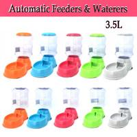 3.5L Pet Healthy Dog Cat Alimentadores automáticos Waterers Dispenser Feeder Bowl Bottle Dish Alimentador de mascotas RT01