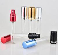10 ML Parfum Atomizador De Vidro Frasco De Gelo Spray Perfume Recarregável Perfume Frasco de Perfume Vazio para Viagem Portátil SN1327