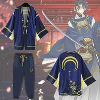 Azjatycka Rozmiar Japonia Anime Touken Ranbu Online Mikazuki Murechika Cosplay Costume Casual Szyfonowa Szlafrok Jednolity Płaszcze Pants