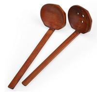 جديد خشبي أدوات المائدة حساء السلاحف اليابانية رامين خشبي طويل مقبض مصفاة وعاء الساخنة ملعقة العملي ودائم SN193