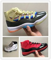 New 11 XI White cement 3D colorful Men Basketball Shoes Spor...