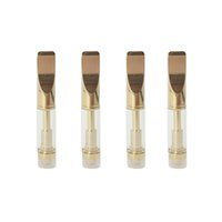 Altın Kartuş 510 Konu 92a3 Cam Atomizörler Metal Yuvarlak ve Düz İpucu Co2 Buharlaştırıcı 0.5ml 1.0ml Ekigs Pirinç Knuckles Kartuşları