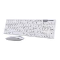 Freeshipping 2.4G Teclado Sem Fio Óptico e Mouse Mouse Conjunto Combo Receiver USB para Computador PC MAC