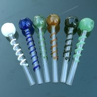 New Colored Glass Oil Burner Pipes Glass Pipes Curved Straig...