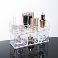 Crystal Clear Acrylic Makeup Organizer Desktop Makeup Storag...