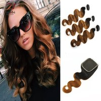 Ombre Hair Extensions Peruvian Hair T1b 30 Dark Roots Brown ...