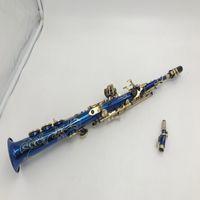 New Blue Color Delicate Soprano Saxophone Drop Drop Shipping