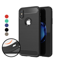 Für iPhone XS Max XR Fall Antiklopf Absorption Carbon Fiber TPU Phone Cases Abdeckung für iPhone X Samsung S9 s8 Fall