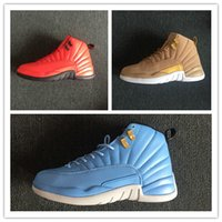 New 12 red blue black wheat gold men basketball shoes sports...
