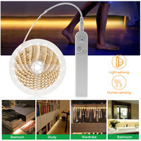 1m 2m 3m Wireless PIR Motion Sensor LED under Bed Closet Nig...