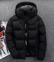 Neue Art Männer Winter Jacken North Coats Warm Daunenjacke Outdoor mit  Kapuze Männer Gesicht nach unten d9dd827a6a