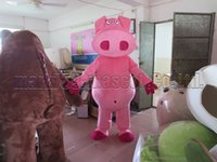 Pink pig mascot costume Free Shipping Adult Size, Pink pig ma...