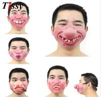 Yeni! 1 ADET FunnyScary Of Yarım Yüz Palyaço Lateks Maskeleri Cosplay Kostüm / Cadılar Bayramı Partisi Dekorasyon Malzemeleri