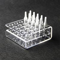 Espositore acrilico Vetrina Rack Stand Espositore per 25pcs 92A3 CE3 Cartucce Atomizzatore Serbatoio Ecigs Vape Supporto per mensola Apertura 11mm