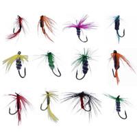 12 stücke Fliegenfischen Köder Künstliche Trockenfliege Schmetterling Insekt Fischköder Bionic Köder Forelle Fliegenfischen Haken