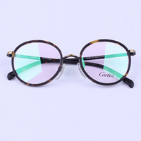 luxury brand glasses W26017G round optical frames 50mm presc...