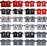 NCAA Ohio State Buckeyes 2 JK Dobbins Jersey Erkek Koleji Futbol 7 Dwayne Haskins Jr 15 Ezekiel Elliott 97 Joey Bosa Legend Kırmızı Siyah Beyaz