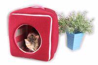 Piccola cuccia per animali domestici Inverno caldo quadrato casa per cuccioli e gatti Divano pieghevole per animali domestici