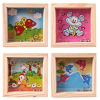 Boy Kids Love Mini Laberinto Juguete Cuadrado Juego de Equilibrio de Madera Laberinto Beads Juego Juguete Patrón de Regalo de Cumpleaños de Dibujos Animados