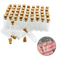 Mini Small Tiny Clear Cork Stopper Glass Bottles Vials Small...