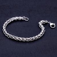 Оптовая низкая цена 4 мм 5 мм 6 мм из нержавеющей стали киль цепи браслет мода прохладный мужские ювелирные изделия Бесплатная доставка