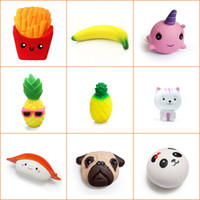Sample Squishy Toys Chips Fries Banana Whale Pineapple Cat S...