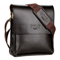 POLO Vintage Leather Man Bag leather messenger bag leather b...