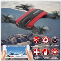 Nouveau téléphone contrôle JXD523 Tracker pliable Mini RC Selfie Drone avec Wifi FPV 720 P HD caméra Altitude Hold Headless Mode CCA8708 10 pcs