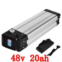 48v 20ah 1000W Bottom discharge Silver fish electric bike us...
