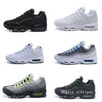 Running Shoes Men Cushion 95 Sneakers 2018 New Mens Black Re...