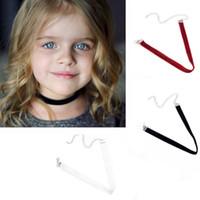 Estilo de verano Chica Gargantilla Collar Negro Blanco Rojo Terciopelo Gótico Chockers Collares decorar Joyería de Moda Para Hija Regalo de la muchacha