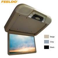 """FEELDO DC12V voiture bus 14.1 """"moniteur LCD TFT monté sur le toit avec lecteur DVD intégré FM USB Slot 3-Color # 4101"""