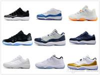 2017 Nouvelle Arrivée 11 Midnight Navy UNC Hommes Chaussures De Basketball de haute qualité 11 s hommes et femmes Chaussures de sport Trainer Sneakers5.5-13