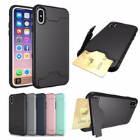 Hybrid Armor Case For iPhone X 8 7 6 6S Plus Luxury Case wit...
