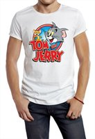 Tom an Jerry T- shirt cartoon cat mouse 80s 90s fight tv movi...