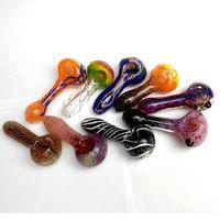 Verre Tuyaux de tabagisme Pyrex Cuillère de tuyau de tuyau de verre pour fumer Tuyaux fabriqués à la main 3.5 '' Accessoires fumeurs pour herbe sèche