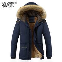 الرجال الصوف fongimic ستر الرجال الشتاء الدافئ سستة سترة ستر القطن الملابس الكلاسيكية معطف منتصف طويلة الصوف قميص