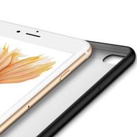 Mat Silikon Telefon Kılıfı Için iPhone 7 8 6 6 s Artı Kapak Siyah Yumuşak TPU Kılıf iphone X Kılıfları