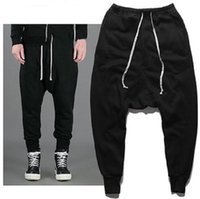 Spring Autumn Men's Harem Pants Black Full Length Hip Hop Pants Men Streetwear Toursers Homens Tamanho S-3XL