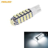 FEELDO 50PCS White T10 194 Wedge 68-SMD 1206/3020 Lampadine per auto LED Lampada da lettura Luce per porta # 1477