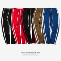 Autumn Men' s Sport Track Pants Side Striped Printed Pan...