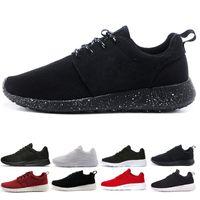 roshe run one Populaire 1.0 London Olympic pas cher chaussures chaussures de course hommes, femmes, gris avec noir Triple Black léger, chaussures de sport taille 36-45