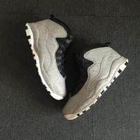 avec boîte 10 10s Cement hommes chaussures de basket-ball noir blanc gris encre Cement mens formateurs sport athlétique Chaussures sneakers nous 8-13 pas cher en ligne