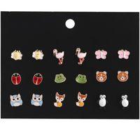 Kimter Animais fofos Animais Hypoalergênicos Brincos De Moda Ladybug Piercing Brinco Para Meninas Mulheres Acessórios Presente Kids H324R A