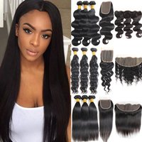 Brazilian Virgin Hair Extensions Water Deep Body Wave 3 Bund...