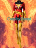 NEW 2018 Dark Phoenix Cosplay Costume 3D Spandex Zentai Body...