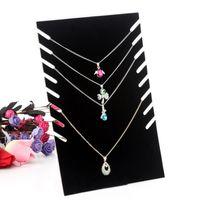Collar negro Bust Jewelry Colgante Collar Pulsera Display Holder Stand Velvet Easel Rack Junta Compuesto titular de la joyería