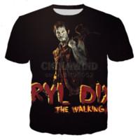 Style d'été en gros-nouvelle mode d'été / les femmes The Walking Dead Paparazzi drôle 3D Imprimer T-shirt Casual DXR0024